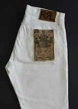 Ralph Lauren RRL White Slim Bootcut Selvedge Jeans 32 x 32 New $225