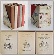 Kleine Bibliothek II 1954 - 5 Minibücher Klassiker Gedichte im Schmuckschuber xz