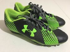Under Armour Force Soccer Cleats Size 6Y Boys Neon Green/Black