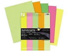 Wausau Paper 20270 Astrobrights Colored Paper, 24lb, 8-1/2 x 11, Neon Assortment