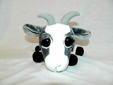 """RARE Russ Berrie Lil Peepers med 9"""" plush Grey White Billy Goat FERNAND big eyes"""