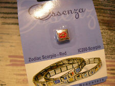 ESSENZA  ITALIAN CHARM - ZODIAC- LINKS TOGETHER MAKES A BRACELET - RED- SCORPIO