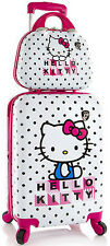 Heys America Luggage Hello Kitty 2 Piece Expandable Suitcase Set - White / Pink