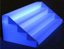 Porta Bottiglie da banco con Scalini In Plex OPALE Trasparente Illuminato cm.150