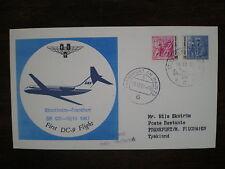 SAS FFC 287 1967 SWEDEN GERMANY , Stockholm - Frankfurt SK 631 First DC 9 flight