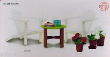 Lundby 60.3049 Smaland Gartenmöbel Set Tisch Stuhl 1:18