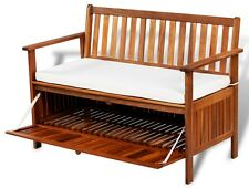 Wooden Storage Bench Vintage Furniture Cushioned Benches Home Shabby Chic Garden