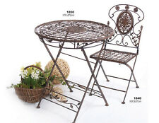 Gartentisch aus Eisen rund 70cm  klappbar Serie Avis