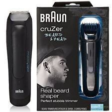 New Mens Braun Cruzer 5 Adjustable Beard and Head Rechargeable Trimmer Shaver