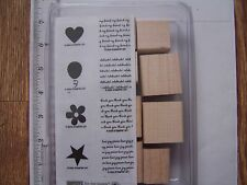 WM RUBBER STAMPS STAMPIN UP MINI MESSAGES SCRIPT BACKGROUND HEART BIRTHDAY STAR