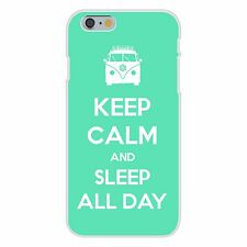 Keep Calm and Sleep All Day Hippie Van FITS iPhone 6+ Plastic Snap On Case