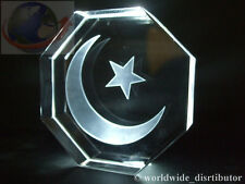 LASER CRYSTAL WEIGHT STAR & CRESCENT ISLAM RELIGIOUS 3744 PRESENTATION BOXED