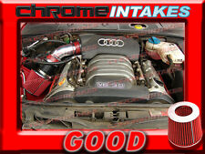 RED 02 03 04 05/2002 2003 2004 2005 AUDI A4 A6 A 4/6 3.0 3.0L V6 AIR INTAKE KIT
