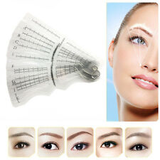 12PCS Eyebrow Grooming Shaping Stencil Kit Brow Template Makeup Shaper DIY Tool