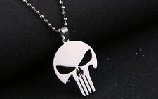 Stainless Steel Marvel's The Punisher Skull Pendant Necklace