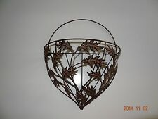 Metal Wall basket Fall leaves China. Thanksgiving Decorative