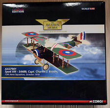 CORGI AVIATION ARCHIVE AA37901 SPAD XIII CAPT CHARLES BIDDLE 1:48 LOW CERT 11