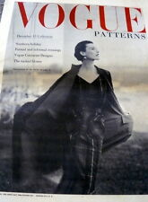 LOVELY VTG 1950s VOGUE PATTERN CATALOG FLIER COUTURIER