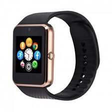 USA Seller GT08 Bluetooth Smart Watch for iOS & Android Cellphone Golden