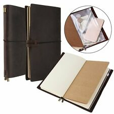 Notebook Refillable Blank Diary  Old Look Full-grain Leather Journal Traveler's