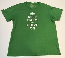 Keep Calm Chive On T Shirt Tee KCCO Green The Chivery XL EUC Crown Authentic
