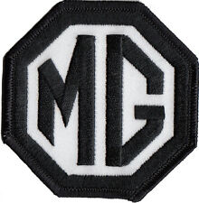"""MG Black and white embroidered patch 3"""" wide"""