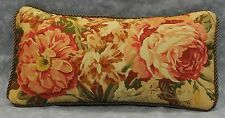 Pillow made w/ Ralph Lauren Guinevere Medieval Brown Floral Fabric 12x7 cording