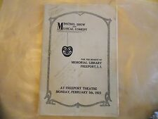 1923 Freeport Long Island Mem Library Ad Journal 64 Pages Merrick Vintage