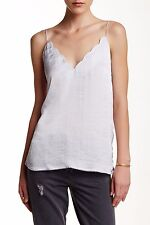 Free People Scallop Satin Moonstone Camisole Top size S 192077 $58