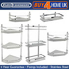 CHROME SATINA HANGING RECTANGLE CORNER SHOWER CADDY BATHROOM SHELF BASKET TIDY