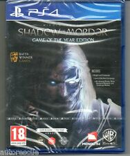 "Middle-earth shadow of mordor jeu de l'année ""new & sealed"" * PS4 (quatre) *"