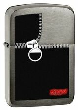 Zippo 28326, 1941 Replica, Zipped, Brushed Black Ice Chrome Lighter, Full Size