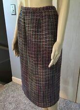 Plum Purple Multi Color Fall Tweed Lined Pencil Skirt Koret Fall Wardrobe 14