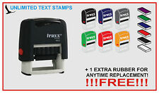 Traxx Self Inking Rubber Stamp  LOGOS LIKE US ON UNLIKE FOLLOW US OTHER SYMBOLS