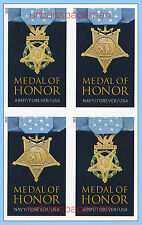 4822e-23e Medal of Honor 2013 WWII Army Navy Imperf Block of 4 No Die Cuts