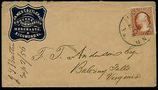 JAMES T. BUTLER & Co. GROCERS RICHMOND, VA BLUE CAMEO COVER BQ446