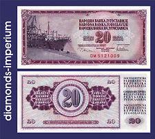 JUGOSLAWIEN  - 20 DINARA - 1978  (UNC)