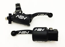 ASV F3 SHORTY BLACK CLUTCH BRAKE LEVERS  DUST COVERS HONDA CRF250R CRF450R 2017