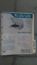 Sony ps-lx5 c service manual original repair book stereo turntable record player