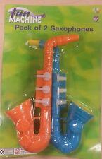 FUN MACHINE Pacco da 2 in plastica sassofono per bambini feste