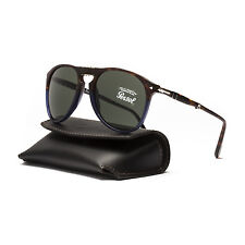 Persol 9714 Folding Aviator Sunglasses 1022/31 Terra e Oceano Brown Blue / Grey
