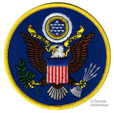 UNITED STATES OF AMERICA BLUE EMBLEM PATCH embroidered iron-on EAGLE USA SEAL