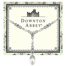 Downton Abbey Pearl Y Drop Necklace  Free Shipping 17689