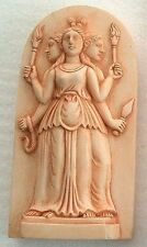 Hecate Triple Goddess Maiden Mother Crone Miniature Pagan Statue #H4