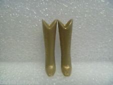 Barbie Shoes - Well Actually A Pair of Western Boots In Gold