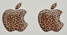 2 x 3D Domed  Apple logo stickers for iPhone, iPad cover. Size 35x30mm.