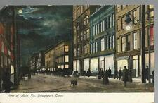 POSTCARD-VIEW OF MAIN STREET, BRIDGEPORT, CONN-UNUSED