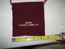 Hafer Funeral Home- LaVale and Frostsburg, MD -Jewlery Bag- never used