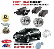 FOR NISSAN MURANO 2.5DT DCI Z51 YD25 2010  FRONT + REAR BRAKE DISC SET + PAD KIT