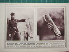 1915 WWI WW1 PRINT BRITISH WADERS MILITARY UNIFORM  PROTECTION FLOODS FROSTBITE